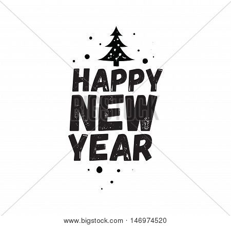 Happy New Year 2017 text design. Vector logo, typography. Usable as banner, greeting card, gift package etc.