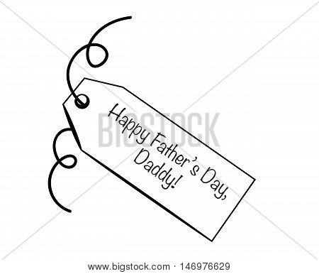 Happy Father's Day Daddy Gift Present Tag poster