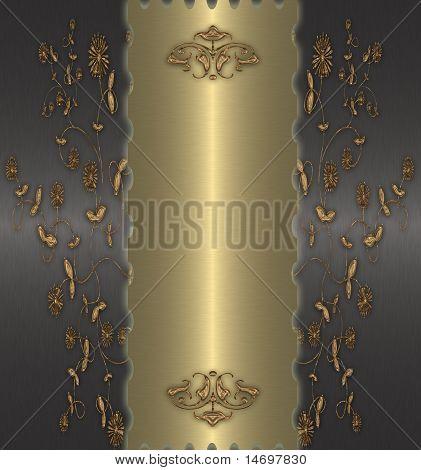 Gold abstrakt auf dem schwarzen Hintergrund