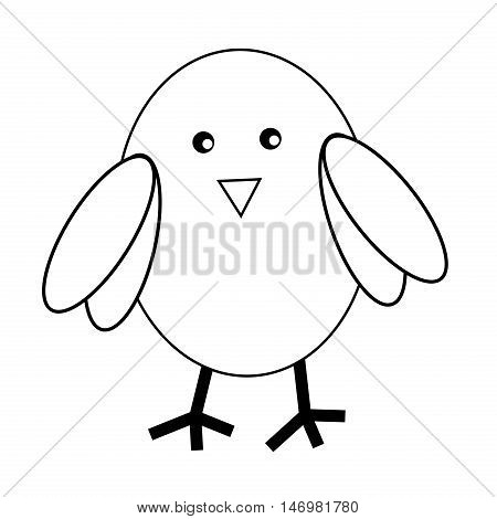 Owl Bird Black and White Coloring Page