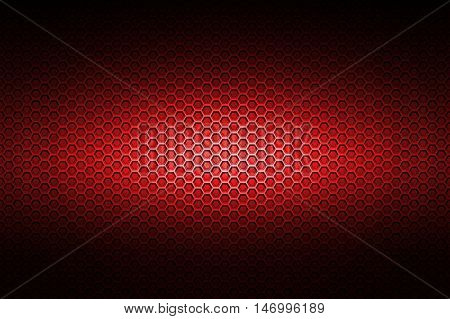 red chrome metallic mesh. metal background and texture. 3d illustration.