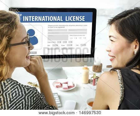 International Driver's License Card Identification Data Information Concept
