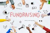Fundraising Donations Charity Foundation Support Concept poster