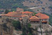 Monasteries of Meteora in Thessalia Greece poster