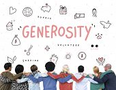 Generosity Donations Charity Foundation Support Concept poster