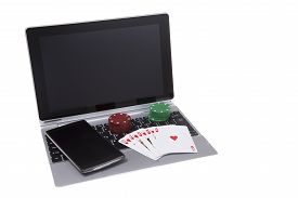 Gambling On Smart Phone And Laptop