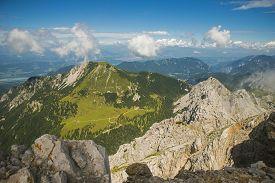 Stol mountain, view on Austrian side, Slovenia