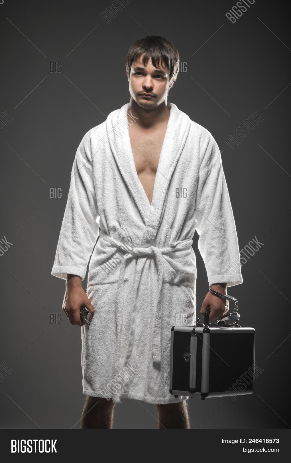 Man White Robe Holding Image Photo Free Trial Bigstock