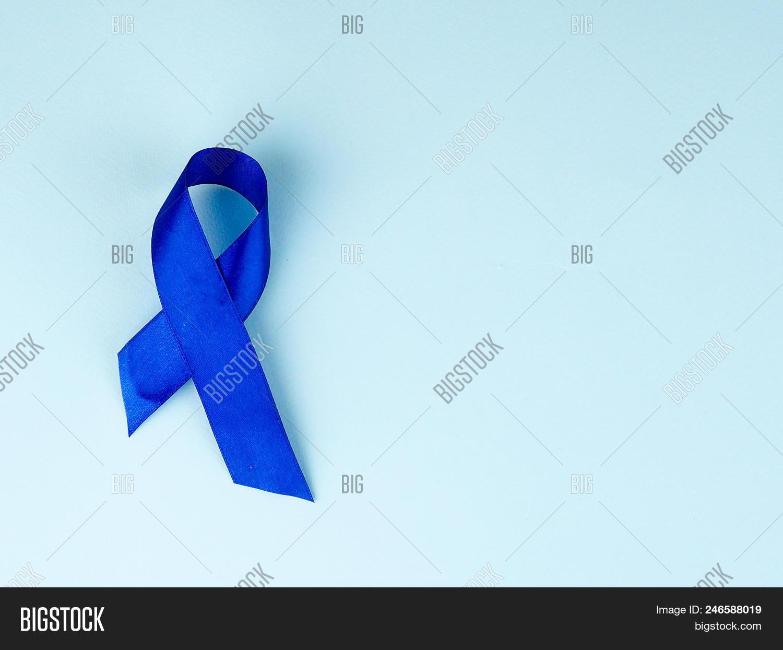 Blue Ribbon Awareness Image Photo Free Trial Bigstock