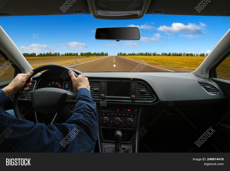 Man Inside Car Driving Image Photo Free Trial Bigstock