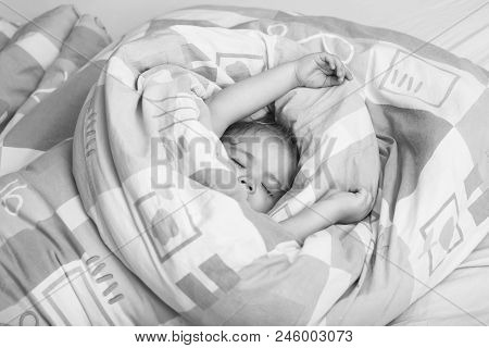Sleeping Baby. Childhood And Happiness. Trust And Tenderness. Small Baby Dreaming. Child Sleep In Be