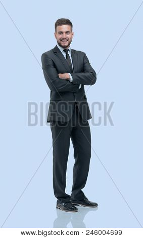 portrait in full growth. confident businessman