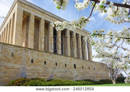 Ankara, Turkey - Anitkabir Mausoleum of Ataturk in springtime