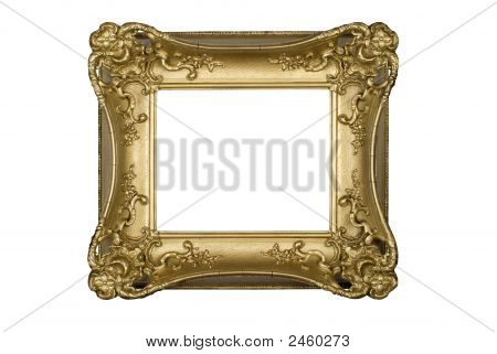 Antique Ornate Gold Picture Frame