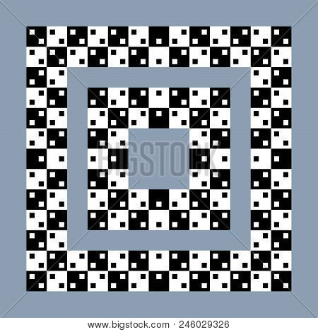 Visual Paradox Optical Illusion. Hypnotic Delusion Of Spin And Motion Vector Abstract Background.