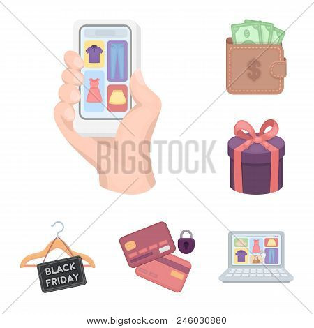 E-commerce, Purchase And Sale Cartoon Icons In Set Collection For Design. Trade And Finance Vector S