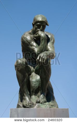Bronze Sculptire The Thinker By Rodin