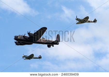 Raf Waddington, Lincolnshire, Uk - July 5, 2014: Royal Air Force (raf) Battle Of Britain Memorial Fl
