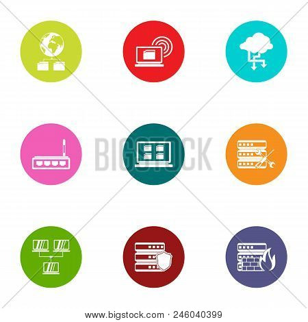 Interactive Icons Set. Flat Set Of 9 Interactive Vector Icons For Web Isolated On White Background