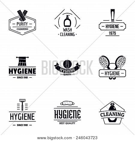 Personal Cleanliness Logo Set. Simple Set Of 9 Personal Cleanliness Vector Logo For Web Isolated On