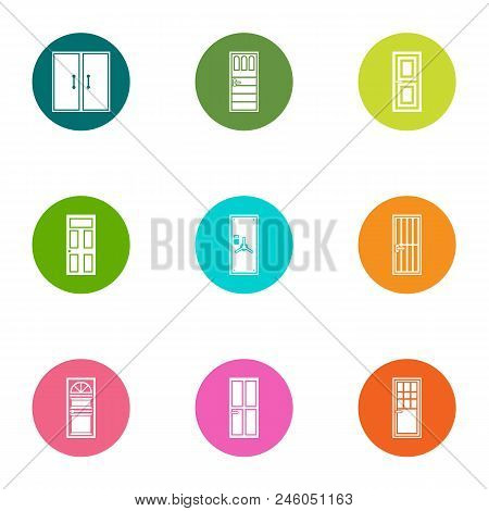 Entry Icons Set. Flat Set Of 9 Entry Vector Icons For Web Isolated On White Background