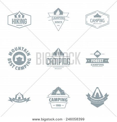 Alpine Logo Set. Simple Set Of 9 Alpine Vector Logo For Web Isolated On White Background