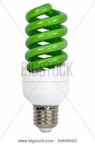 Bulbo ahorro de energía verde