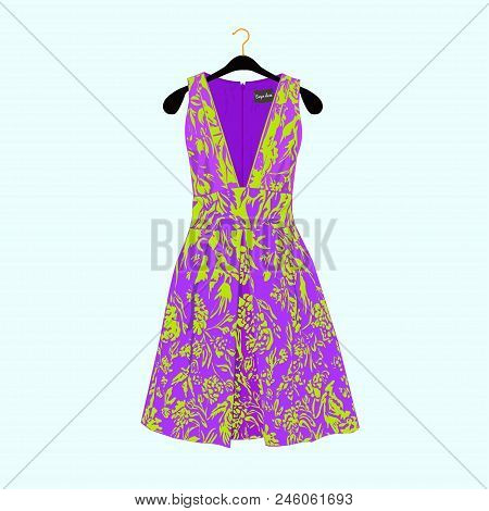 Beautiful Dress For Special Event. Vector Fashion Illustration.celebrity Dress.luxury Dress.