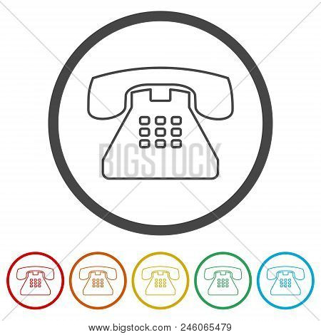 Old Phone Icon Phone Vector Photo Free Trial Bigstock