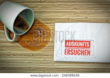 Letter With In German Auskunftsersuchen In English Requests For Information