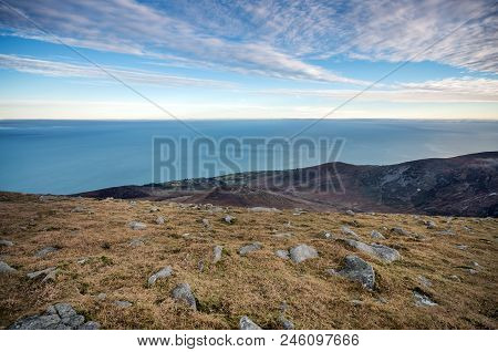 A Stunning View From Slieve Donard Towards Analong, Northern Ireland.