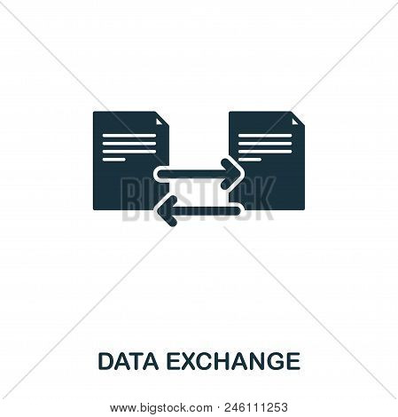Data Exchange Icon. Line Style Icon Design. Ui. Illustration Of Data Exchange Icon. Pictogram Isolat