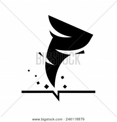 Tornado Icon. Vector Illustration.tornado Storm Icon Isolated On White Background.