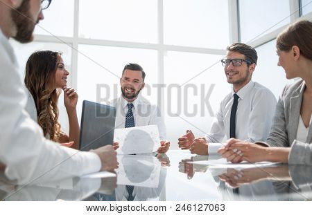 business team at a business meeting in the office
