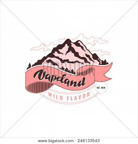 Vapeland Lettering Logo Design. Can Be Used For Print, Label, Emblem, Badge, Tag. Stock Vector