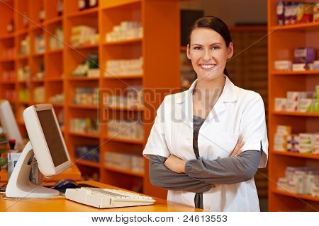 Pharmacist At Checkout