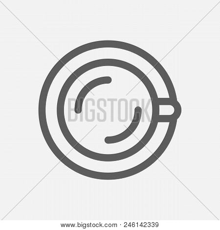 Tea Cup Icon Line Symbol. Isolated Vector Illustration Of  Icon Sign Concept For Your Web Site Mobil