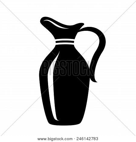 Jug For Milk Or Water Canister. Simple Icon Of Pitcher Logotype Vector Illustration For Web Or Print
