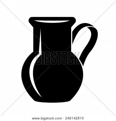 Jug For Milk Or Water Canister. Simple Icon Of Pitcher Logo Vector Illustration For Web Or Print Des
