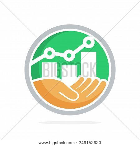 Icon Vector Illustration With The Concept Of Business Investment Management, Business Prospect Plann