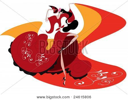 Spanish performed flamenco