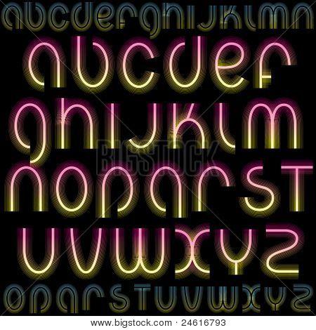 Luxury Vector Font poster