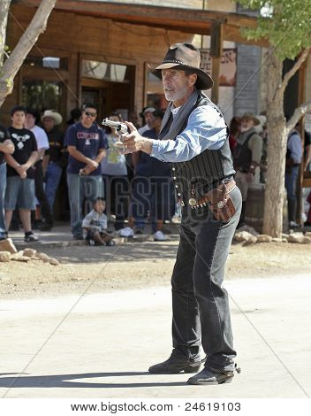 A Gunfighter At Helldorado, Tombstone, Arizona