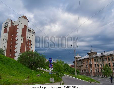 Murmansk, Russia. City Landscape With A View Of The Kola Bay
