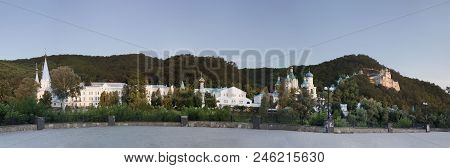 Sviatohirsk Lavra. Panorama. Shooting From The Seafront Seversky Donets
