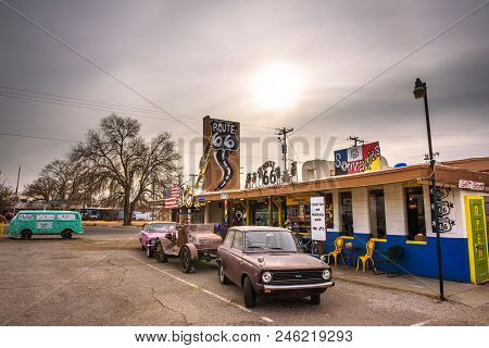 Seligman, Arizona, Usa - January 2, 2018 : Vintage Souvenir Shop And Museum Situated On Historic Rou