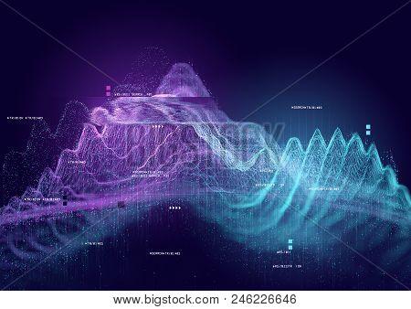 Big Data And Tracking Information, 3d Visualization Illustration