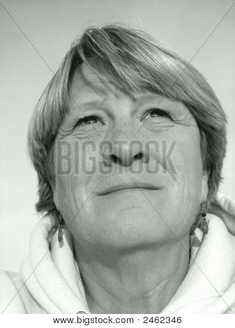 Sad Middle-Aged Woman