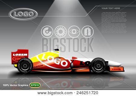 Racing Car Template Eps 10 Vector Graphics. Layered And Editable.