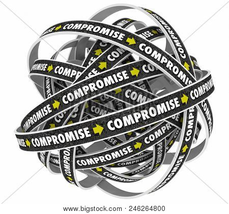 Compromise Negotiations Cycle Process 3d Render Illustration